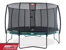 Батут Berg Elite Regular Green 380 с сеткой Deluxe